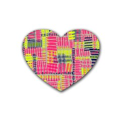 Abstract Pattern Heart Coaster (4 pack)