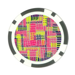 Abstract Pattern Poker Chip Card Guard