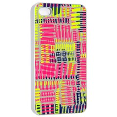 Abstract Pattern Apple iPhone 4/4s Seamless Case (White)