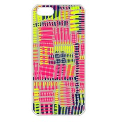 Abstract Pattern Apple iPhone 5 Seamless Case (White)