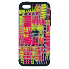 Abstract Pattern Apple iPhone 5 Hardshell Case (PC+Silicone)