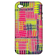 Abstract Pattern Apple iPhone 4/4S Hardshell Case (PC+Silicone)