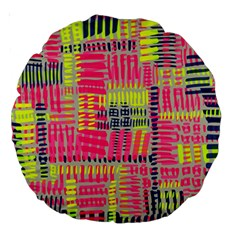 Abstract Pattern Large 18  Premium Round Cushions