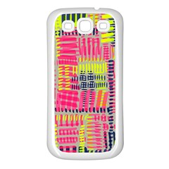 Abstract Pattern Samsung Galaxy S3 Back Case (White)