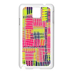 Abstract Pattern Samsung Galaxy Note 3 N9005 Case (White)