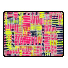 Abstract Pattern Double Sided Fleece Blanket (Small)