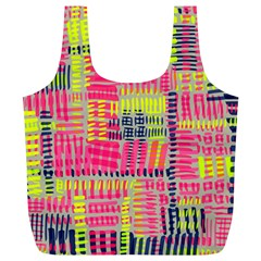 Abstract Pattern Full Print Recycle Bags (L)
