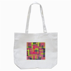 Abstract Pattern Tote Bag (white)