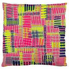 Abstract Pattern Large Flano Cushion Case (Two Sides)