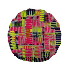 Abstract Pattern Standard 15  Premium Flano Round Cushions