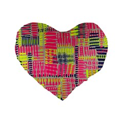 Abstract Pattern Standard 16  Premium Flano Heart Shape Cushions