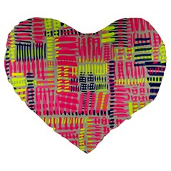 Abstract Pattern Large 19  Premium Flano Heart Shape Cushions