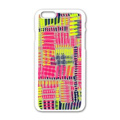 Abstract Pattern Apple iPhone 6/6S White Enamel Case
