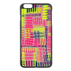 Abstract Pattern Apple Iphone 6 Plus/6s Plus Black Enamel Case