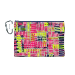 Abstract Pattern Canvas Cosmetic Bag (M)