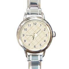 Background Pattern Round Italian Charm Watch