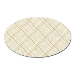 Background Pattern Oval Magnet