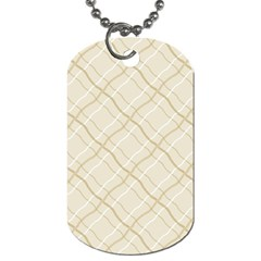 Background Pattern Dog Tag (two Sides)