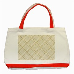 Background Pattern Classic Tote Bag (red)