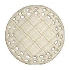 Background Pattern Round Filigree Ornament (Two Sides)