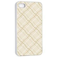 Background Pattern Apple iPhone 4/4s Seamless Case (White)
