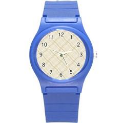 Background Pattern Round Plastic Sport Watch (S)