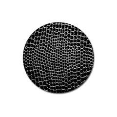 Black White Crocodile Background Magnet 3  (Round)