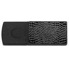 Black White Crocodile Background Usb Flash Drive Rectangular (4 Gb)