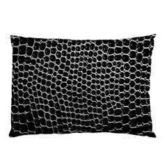 Black White Crocodile Background Pillow Case (two Sides)