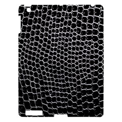 Black White Crocodile Background Apple Ipad 3/4 Hardshell Case