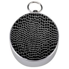 Black White Crocodile Background Silver Compasses