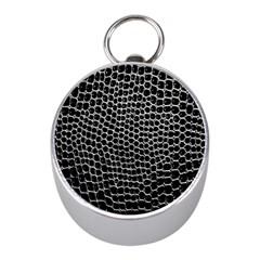Black White Crocodile Background Mini Silver Compasses