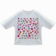 Colorful Floral Flowers Pattern Infant/toddler T Shirts