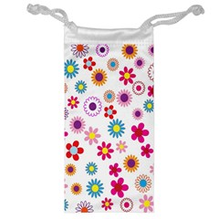 Colorful Floral Flowers Pattern Jewelry Bag