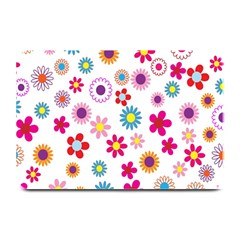 Colorful Floral Flowers Pattern Plate Mats