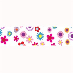 Colorful Floral Flowers Pattern Large Bar Mats