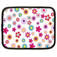 Colorful Floral Flowers Pattern Netbook Case (large)