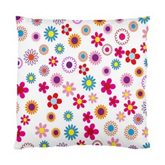 Colorful Floral Flowers Pattern Standard Cushion Case (One Side)