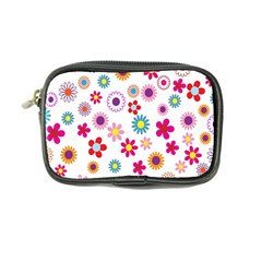 Colorful Floral Flowers Pattern Coin Purse