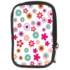 Colorful Floral Flowers Pattern Compact Camera Cases