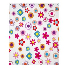 Colorful Floral Flowers Pattern Shower Curtain 60  X 72  (medium)