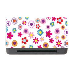 Colorful Floral Flowers Pattern Memory Card Reader With Cf