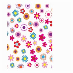 Colorful Floral Flowers Pattern Large Garden Flag (Two Sides)