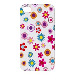 Colorful Floral Flowers Pattern Apple iPhone 4/4S Premium Hardshell Case
