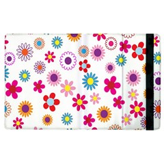 Colorful Floral Flowers Pattern Apple iPad 2 Flip Case