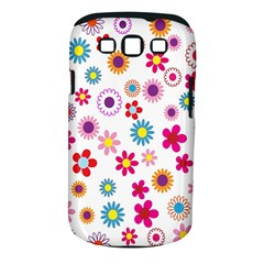 Colorful Floral Flowers Pattern Samsung Galaxy S III Classic Hardshell Case (PC+Silicone)