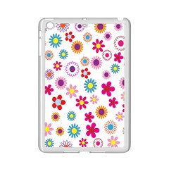 Colorful Floral Flowers Pattern iPad Mini 2 Enamel Coated Cases