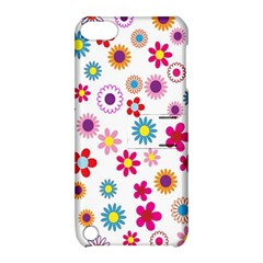 Colorful Floral Flowers Pattern Apple iPod Touch 5 Hardshell Case with Stand