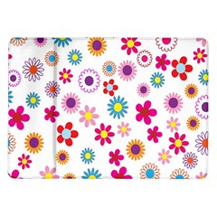 Colorful Floral Flowers Pattern Samsung Galaxy Tab 10.1  P7500 Flip Case
