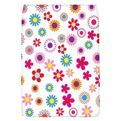 Colorful Floral Flowers Pattern Flap Covers (L)